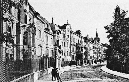 Die ehemalige Parkstraße im Brünner Norden