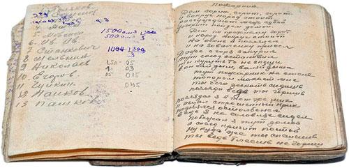 Fundstück: Tagebuch aus einem Lager