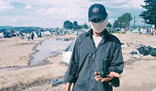 Bei den Unruhen im April landeten Tränengas und Gummigeschosse im Lager.