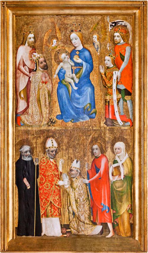Votivbild es Prager Erzbischofs Johann Očko von Vlašim