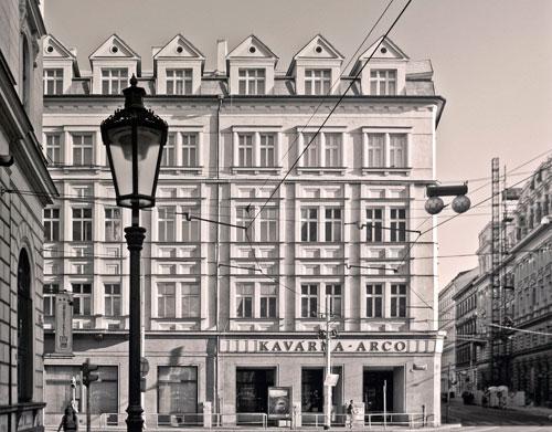 """Im Café Arco in der Hybernská-Straße trafen sich die Schriftssteller des """"Prager Kreises"""" regelmäßig."""