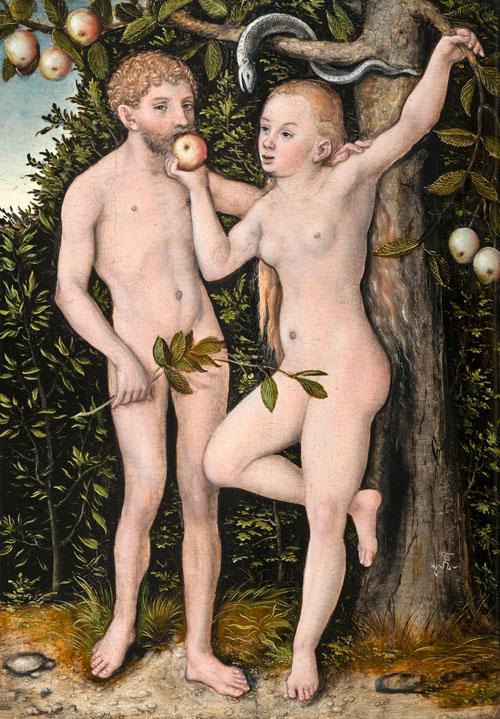 """""""Adam und Eva"""" (um 1538)"""