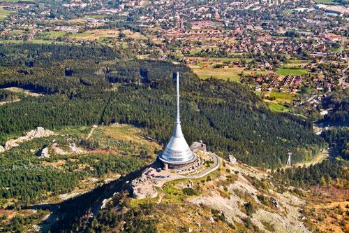 Blick auf den Ještěd bei Liberec
