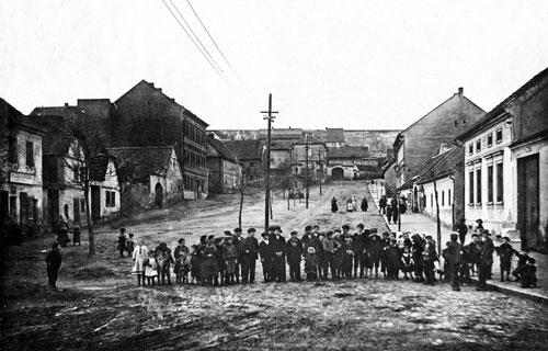 Die heutige Břevnov-Straße im Jahr 1917