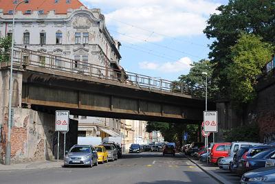 Die Perner-Straße in der Nähe des Busbahnhofs Florenc