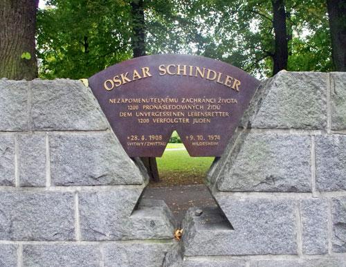 Svitavy erinnert an Oskar Schindler.
