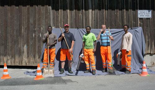 Neue Heimat: Bauarbeiter aus Mali, dem Kosovo und Eritrea