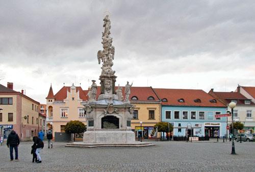Der Marienplatz ist einer von zwei zentralen Plätzen in Uherské Hradiště.