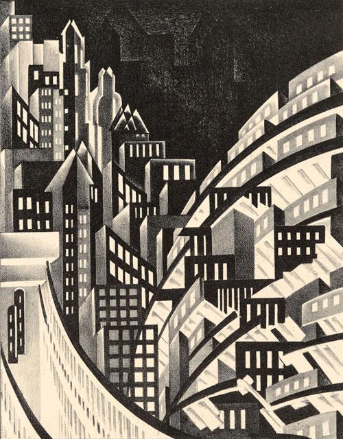 """""""New York"""" von Louis Lozowick"""