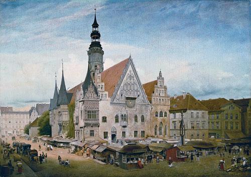 """Eduard Gaertners """"Ansicht vom Rathaus zu Breslau"""""""