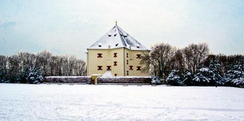 Langlaufen in Prag – auch das geht. Zum Beispiel im Park Hvězda.