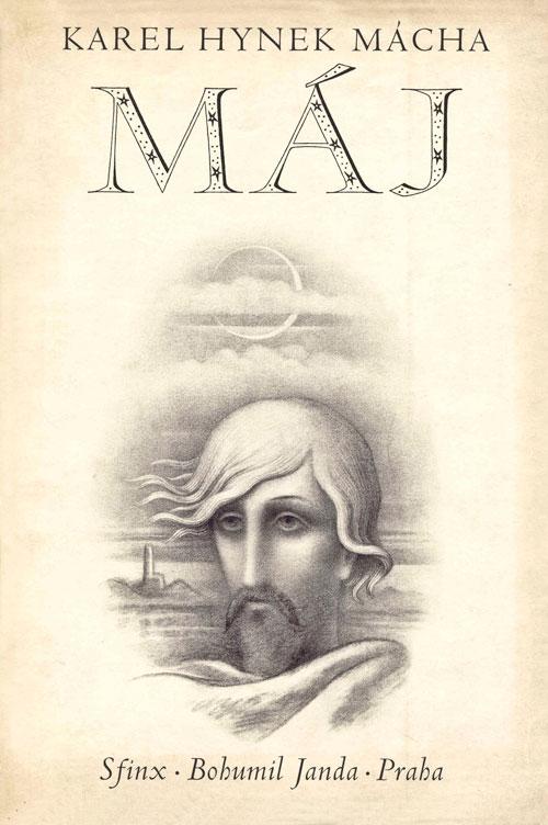"""Illustrierte Buchseite zum Mácha-Epos """"Máj"""""""