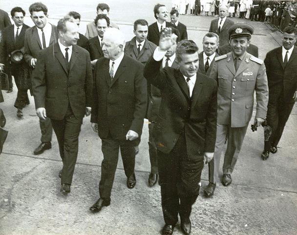 Generalsekretär Dubček und Staatspräsident Svoboda beim Besuch von Nicolae Ceaușescu (rechts) in Prag (15. August 1968)     | © Fototeca online a comunismului românesc, photo #G539, 202/1968
