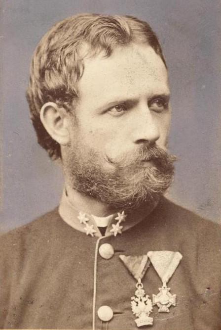 Julius Payer (Bildnis als Oberleutnant, aufgenommen von Fritz Luckhardt, vor 1875)
