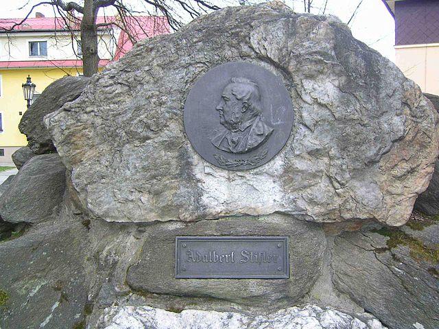 Gedenktafel für Adalbert Stifter im südböhmischen Frymburk nad Vltavou (Friedberg)  | © Hans Weitkowitz, CC BY-SA 3.0