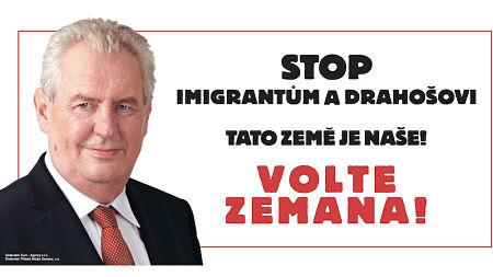 Zeitungsannonce gegen Jiří Drahoš (Januar 2018)