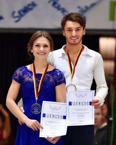 Polizoakis und Lorenz holten im Dezember 2017 den dritten deutschen Meistertitel in Folge.