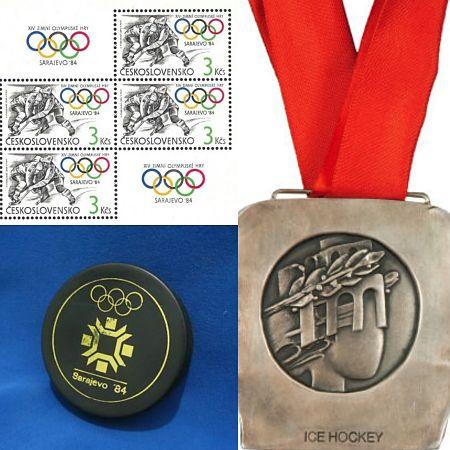 Beim olympischen Eishockey-Turnier 1984 gewann die Tschechoslowakei die Silbermedaille.  | © PZ