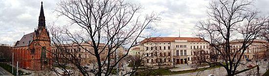 Blick auf den Brünner Comenius-Platz (Komenského náměstí) mit Gebäuden der Masaryk-Universität  | © Martin Nováček, CC BY-SA 4.0