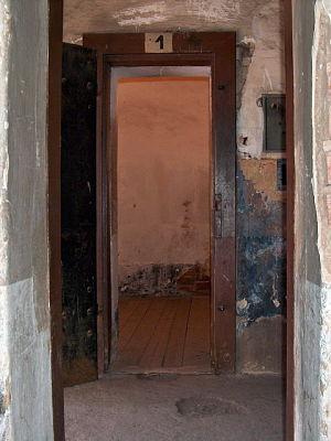 Zelle von Gavrilo Princip in der Kleinen Festung Theresienstadt