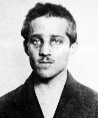 Gavrilo Princip während der Haft in Theresienstadt