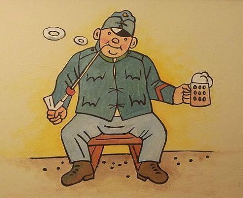 Der brave Soldat Schwejk in einer Prager Bierkneipe  | © jirka.h23, CC BY-SA 4.0